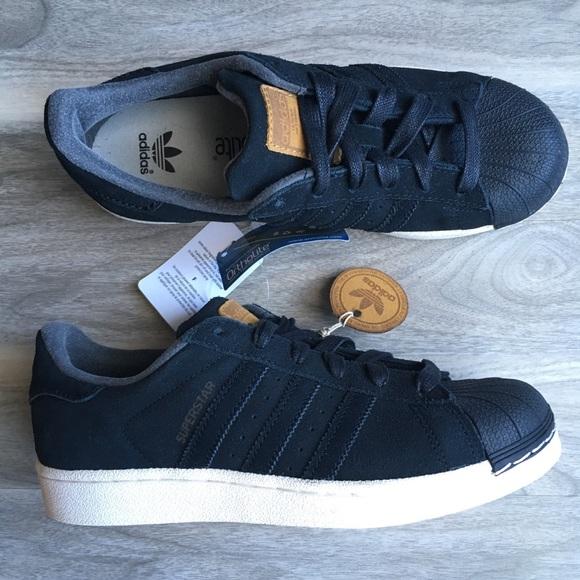 Adidas zapatos negro Suede Superstar 75 nuevos poshmark
